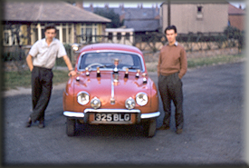 George Hulme & Don Barrow - Renault Dauphine - March 1959 - Our very first Win