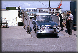 Reg McBride & Don Barrow - 1964 Manx Trophy Rally 11th - Off-loading at Douglas from the Manx Maid
