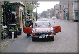 1964 John Wadsworth & Don Barrow setting forth on the first 1964 Spa-Sofia-Liege BMC recee - Ashdown, Kent