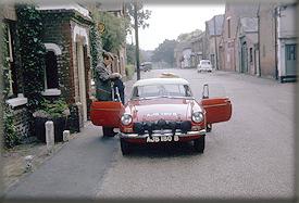1964 John Wadsworth & Don Barrow setting forth on the first 1964 Spa-Sofia-Liege BMC recee - Ashdown, Kent